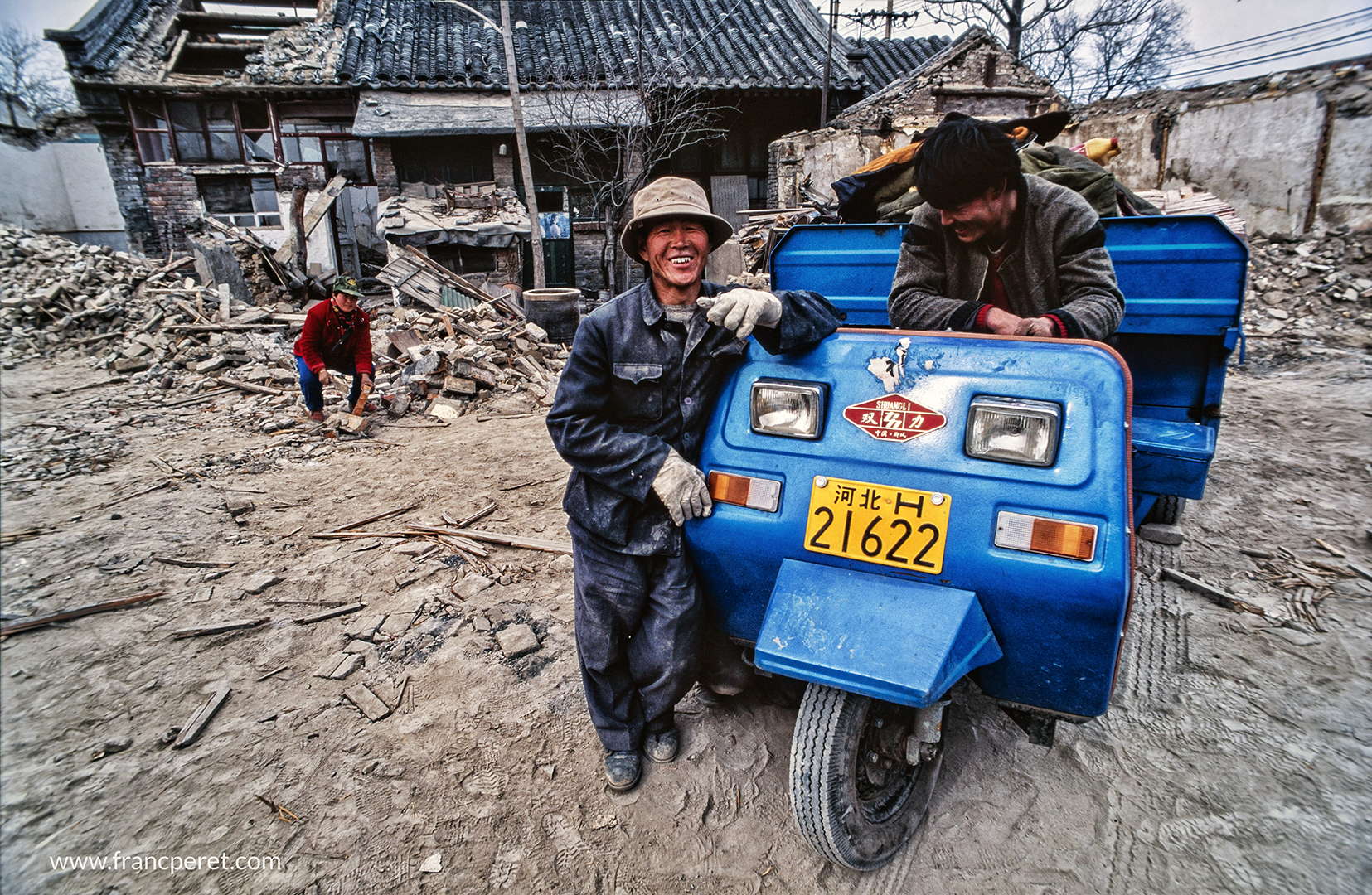 Chinese people have the logic of recycling from destruction. All bricks, tile, wood, doors and windows are carried away to villages in need of construction material.