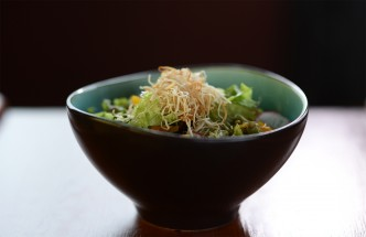 Bowl of mixed salad, Menu Shot in The Apartment