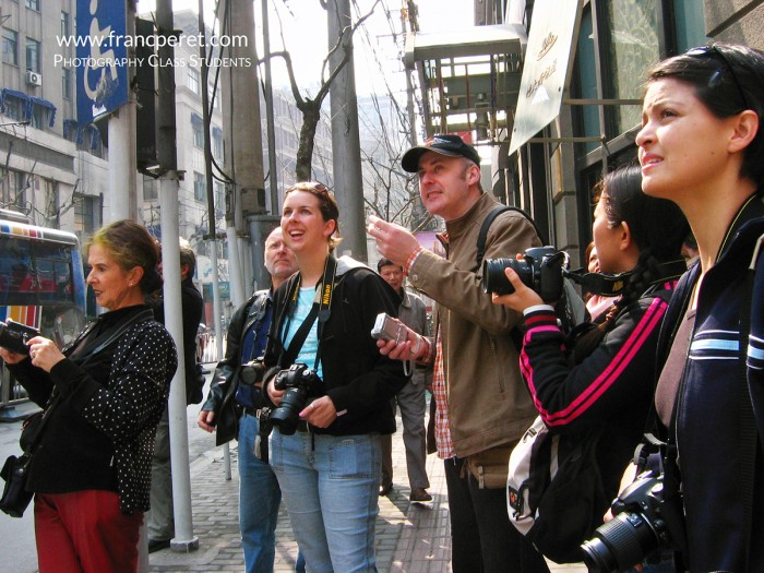 Picture session in Shanghai Street with some students from my 2005 and 2006 Classes